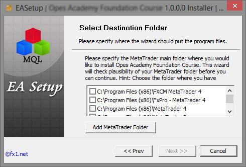 FX1 | EASetup - MQL Setup Software
